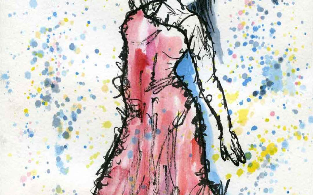 Dancing woman – Daily painting #893