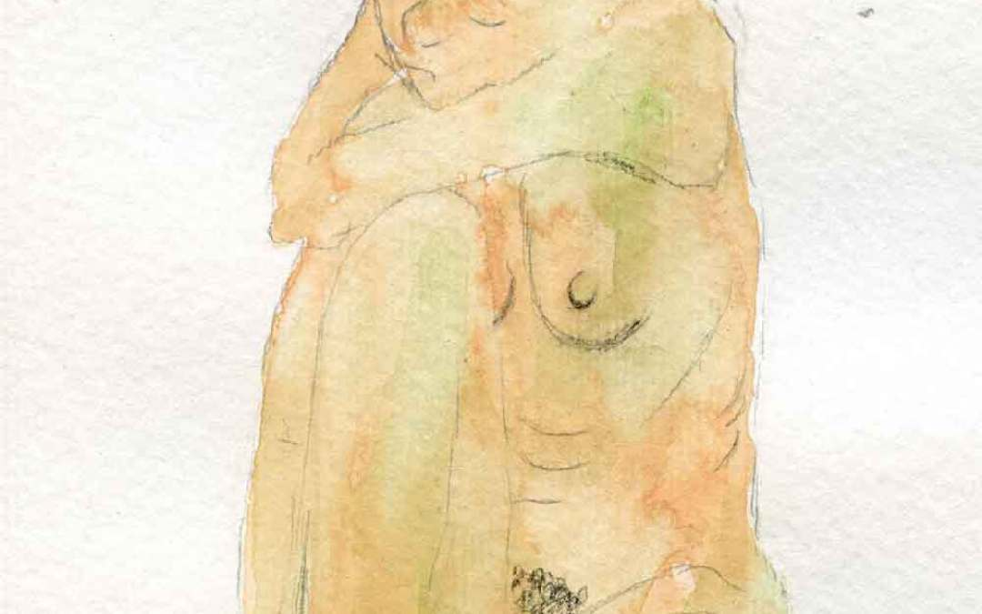 Nude woman – Daily painting #894