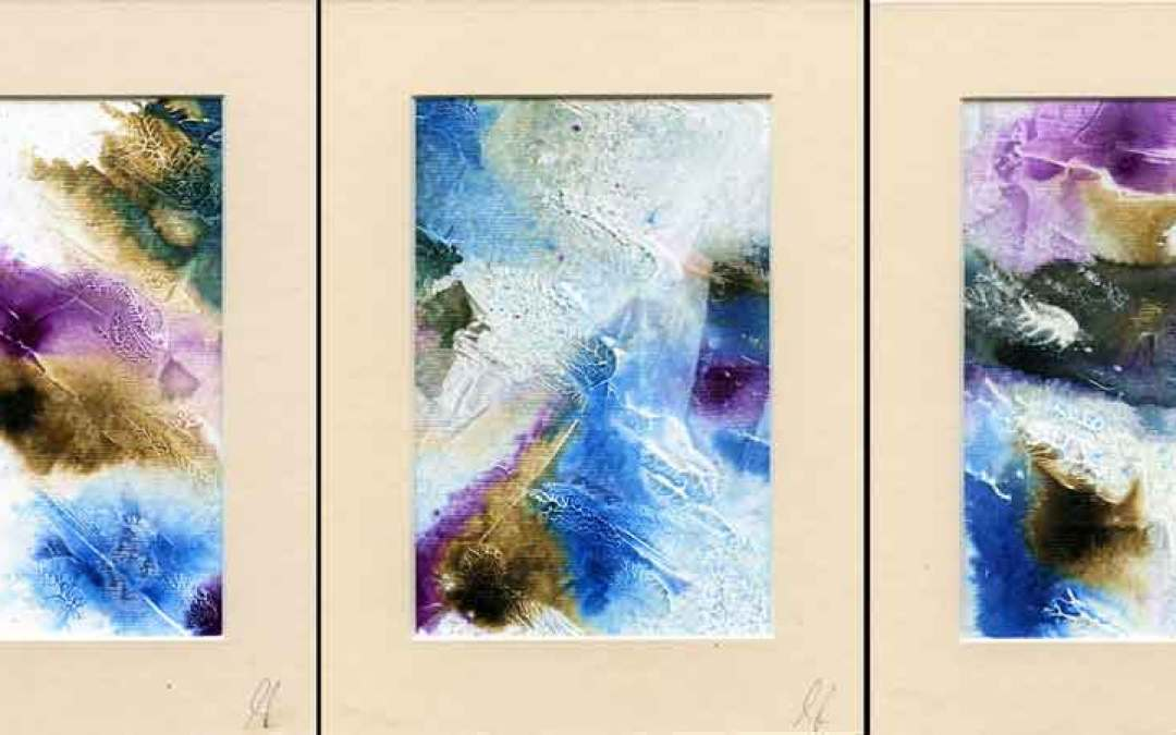 3 Abstract mounted painting – Daily painitng #1077