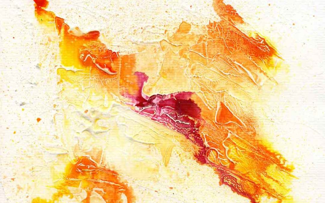 Yellow and pink abstract – Daily painting #1090