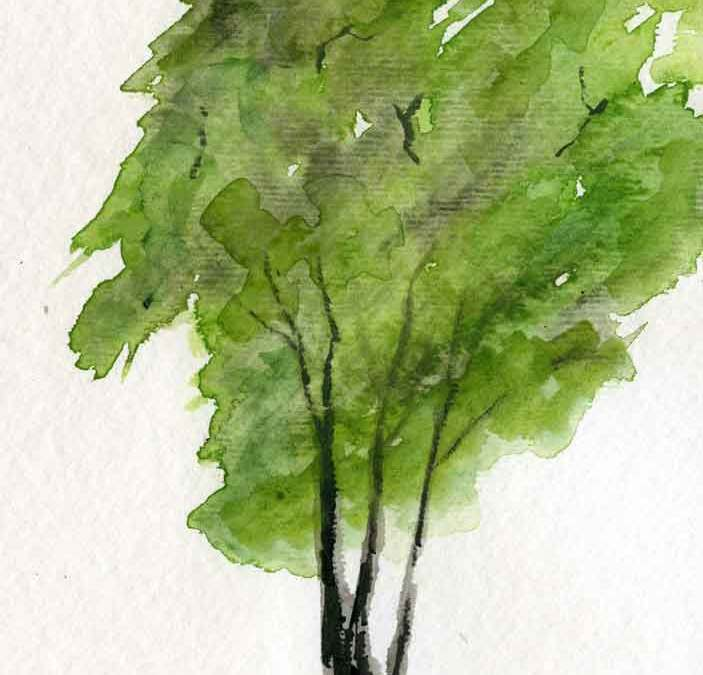Lone tree – Daily painting #1157