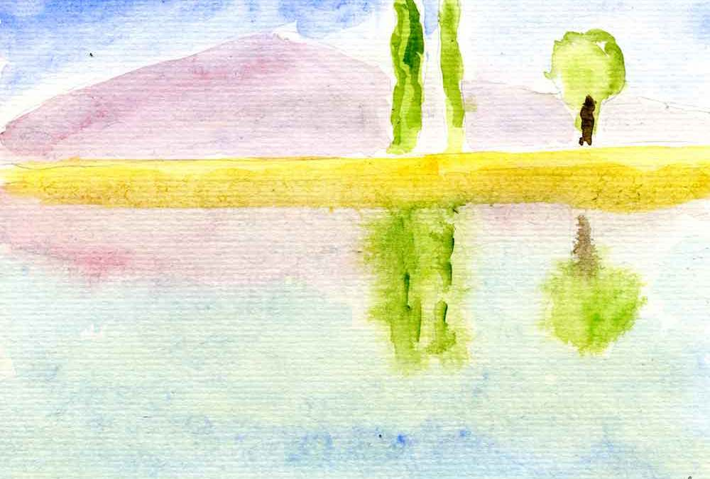Reflected landscape – Daily painting #1196