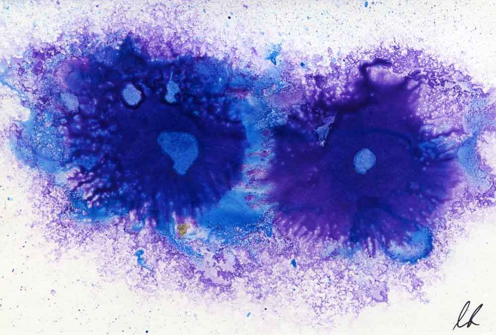 Purple circles abstract – Daily painting #1213