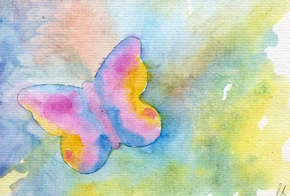 Watercolour butterfly – Daily painting #1222