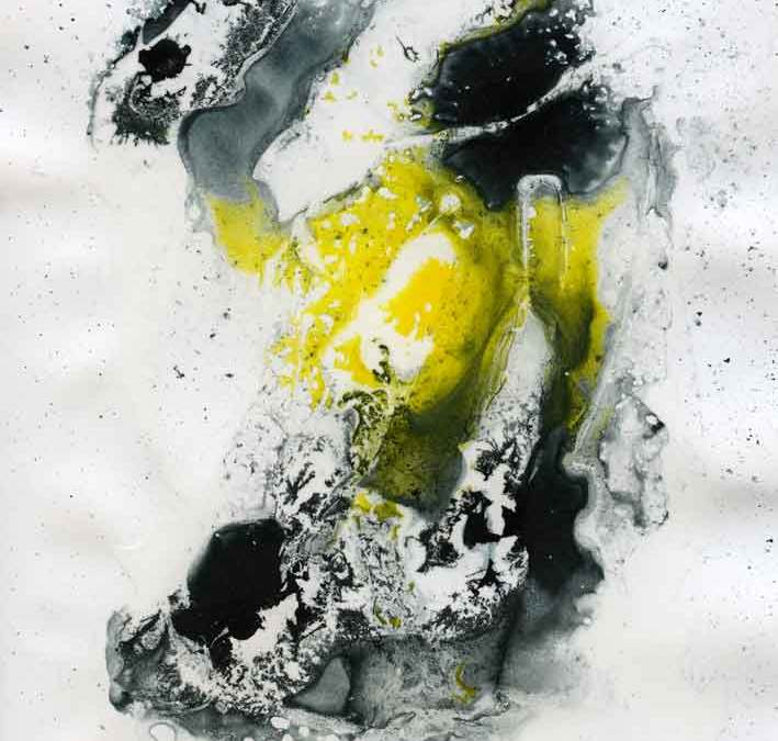 Black and yellow abstract – Daily painting #1135