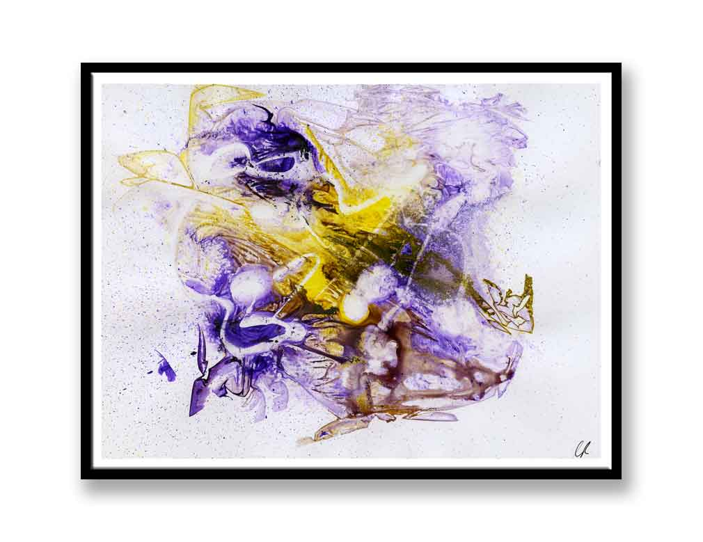 Purple and yellow abstract  (#1322)