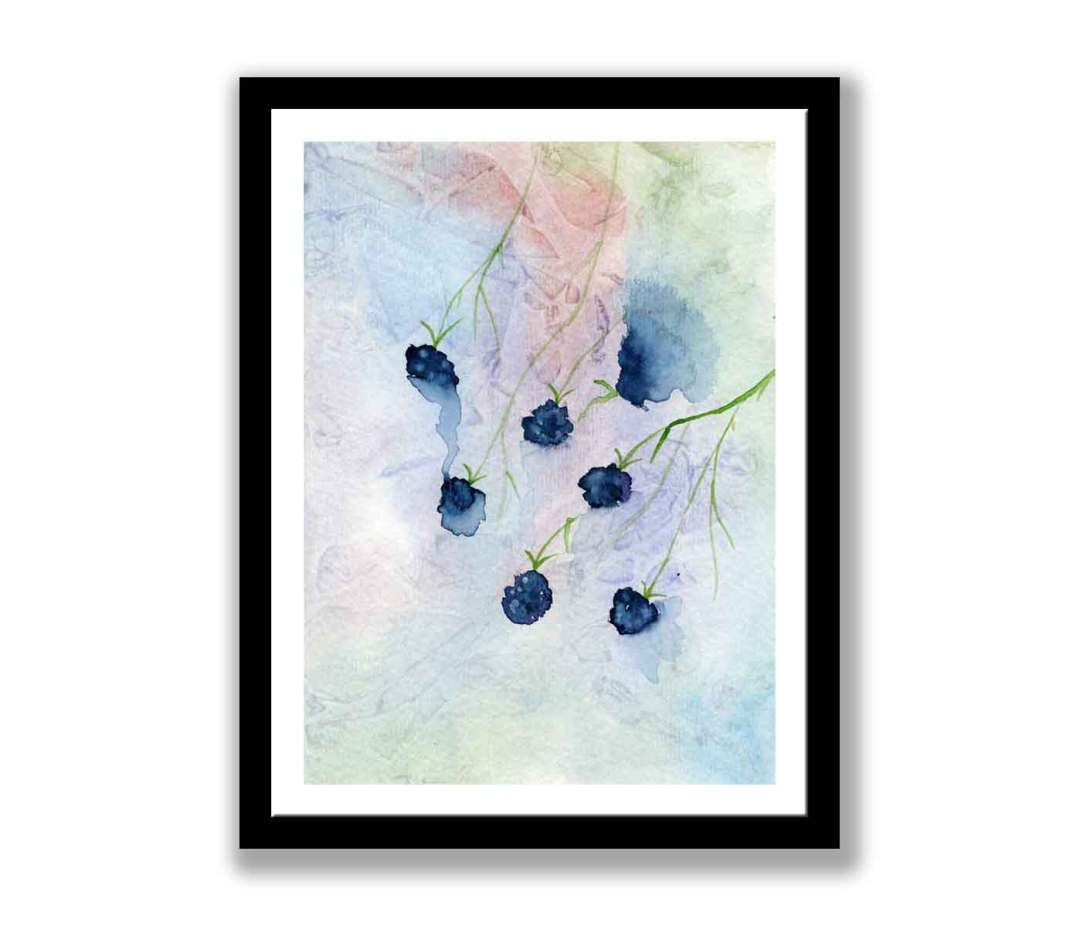 Watercolour Blackcurrants  (#280)