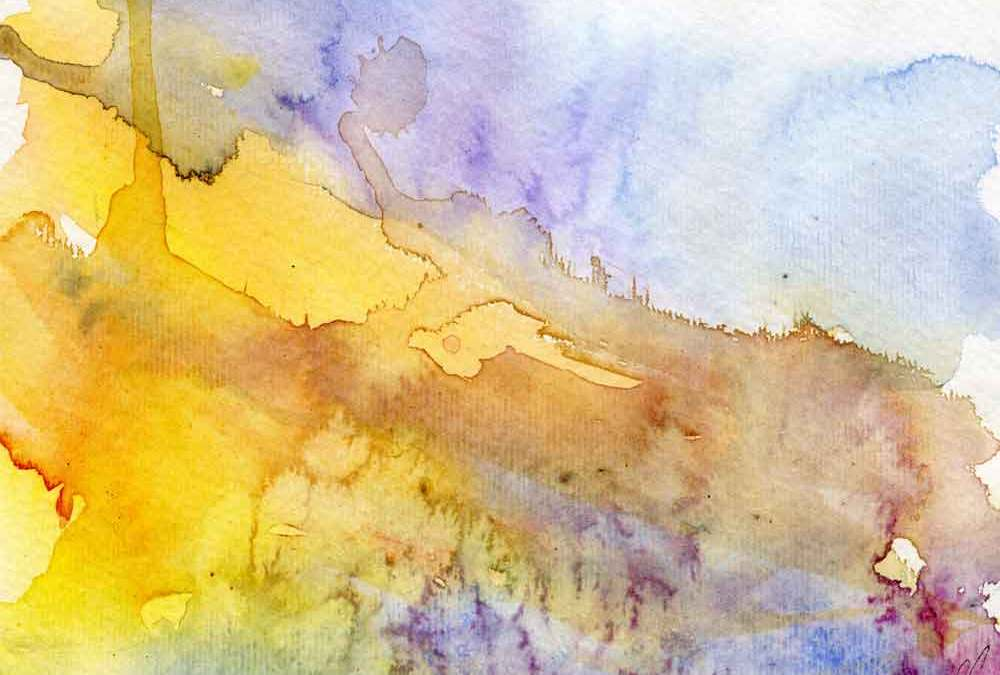 Yellow abstract landscape (#390)