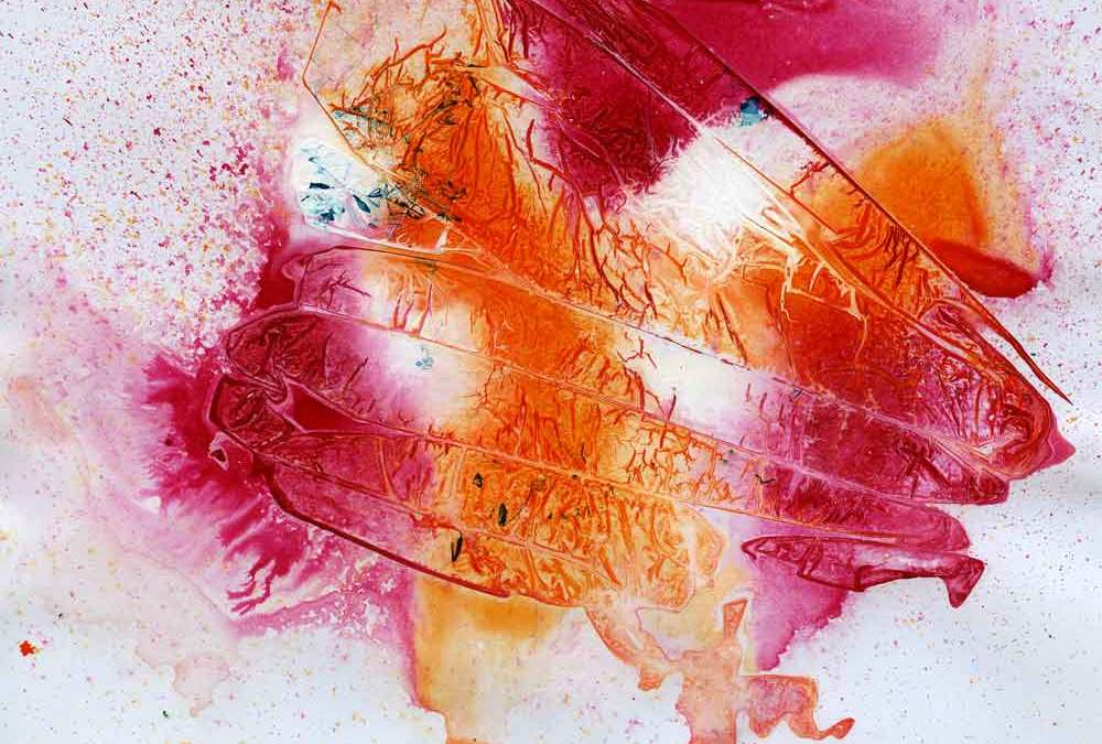 Orange and pink abstract (#1344)