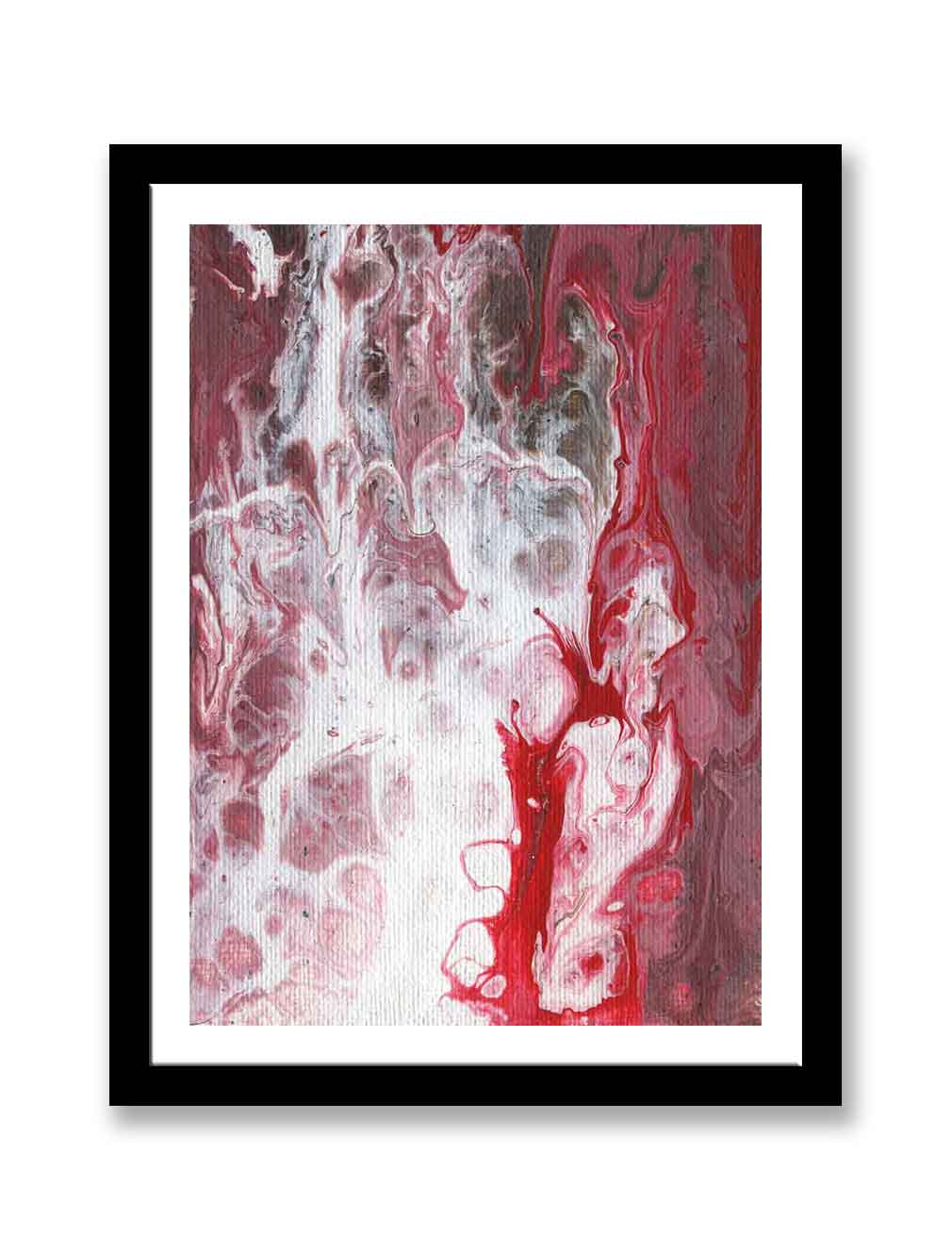Red white abstract – Print for sale (#1383)
