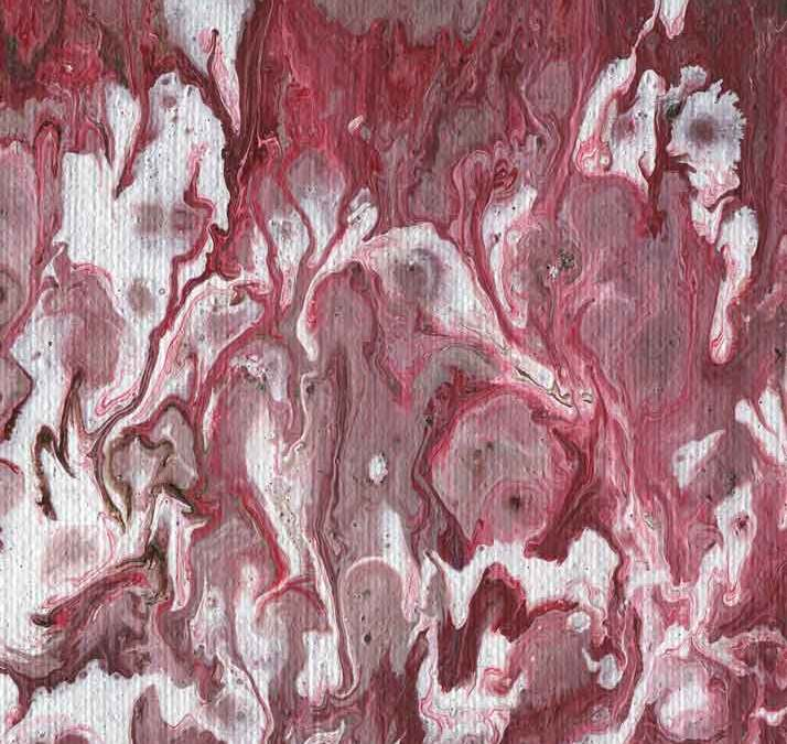 Red and white abstract painting (#1386)