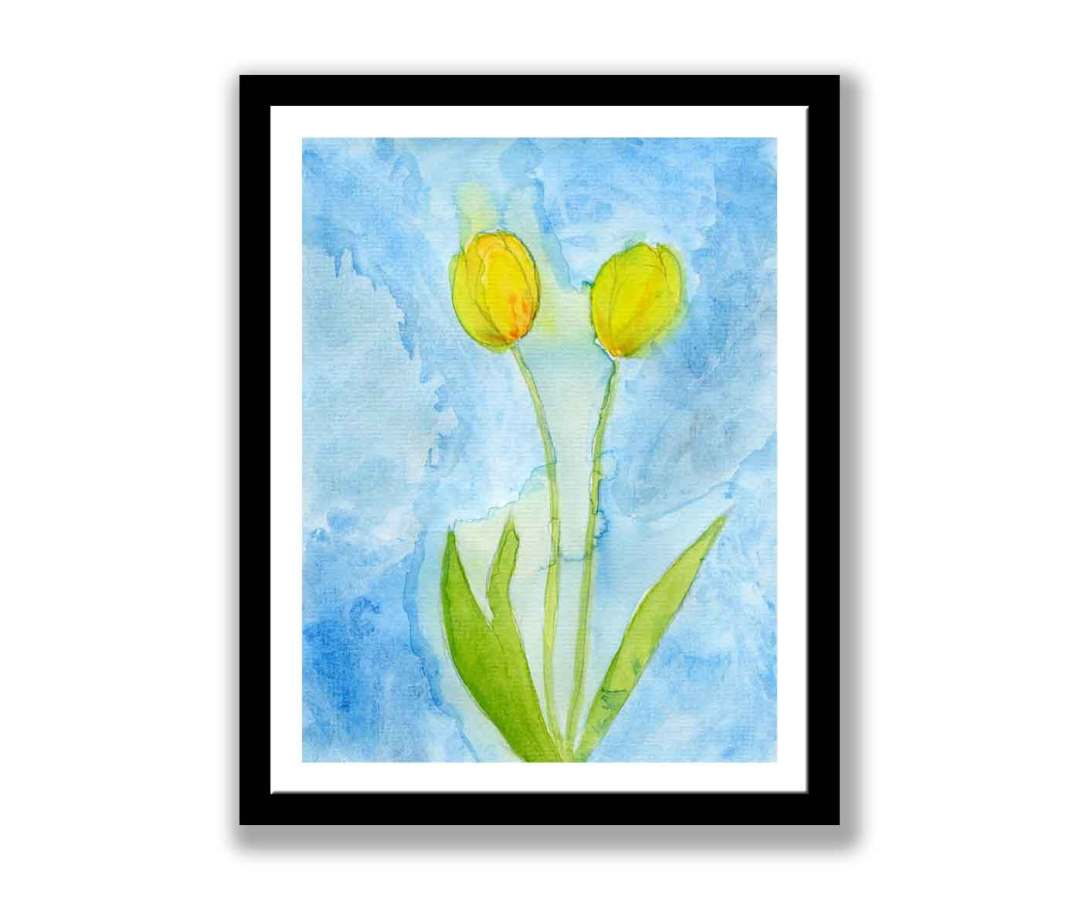 Tulips watercolour print (#195)