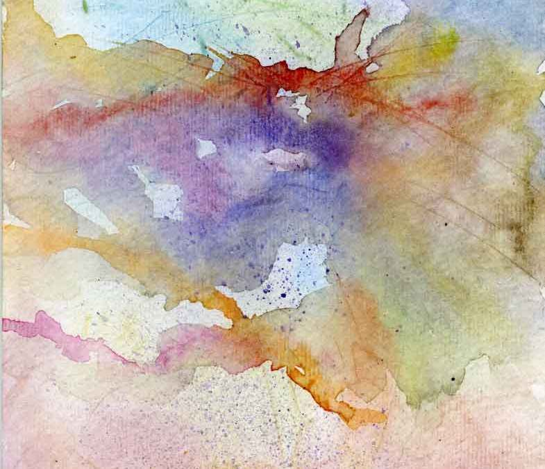 Abstract watercolour painting  (#306)