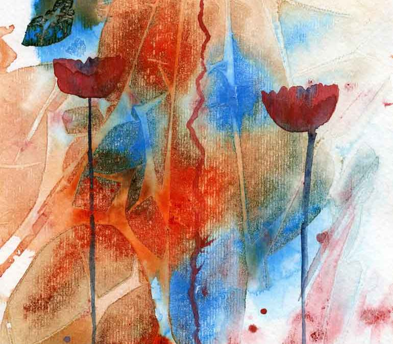 Abstract poppies (#255)