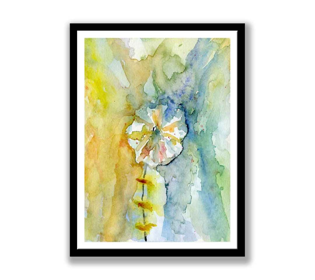 White watercolour flower (#275)