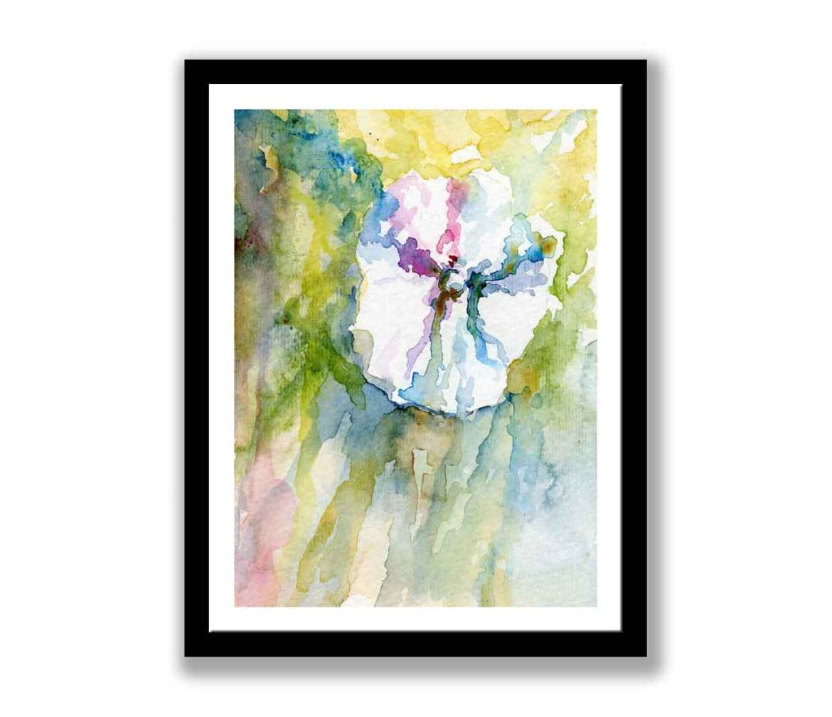Abstract white flower (#322)
