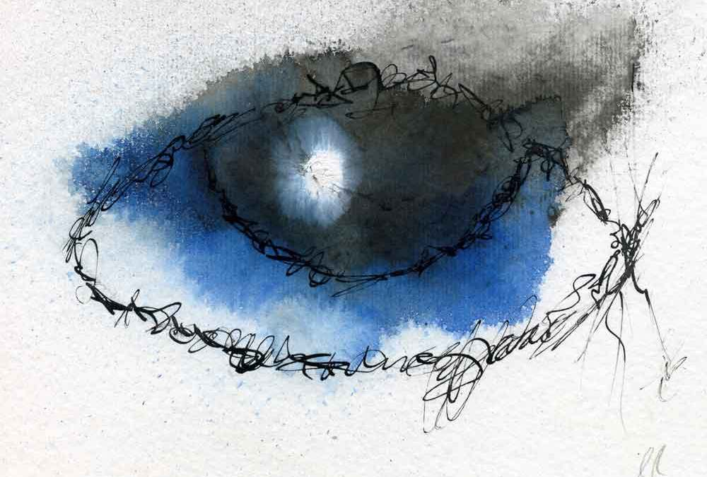 Blue eye abstract (#841)