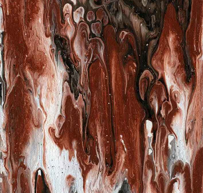 Brown and white abstract(#1433)