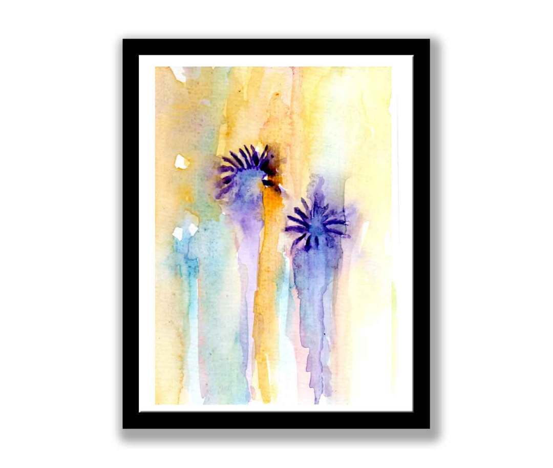 Abstract watercolour flowers (#1470)