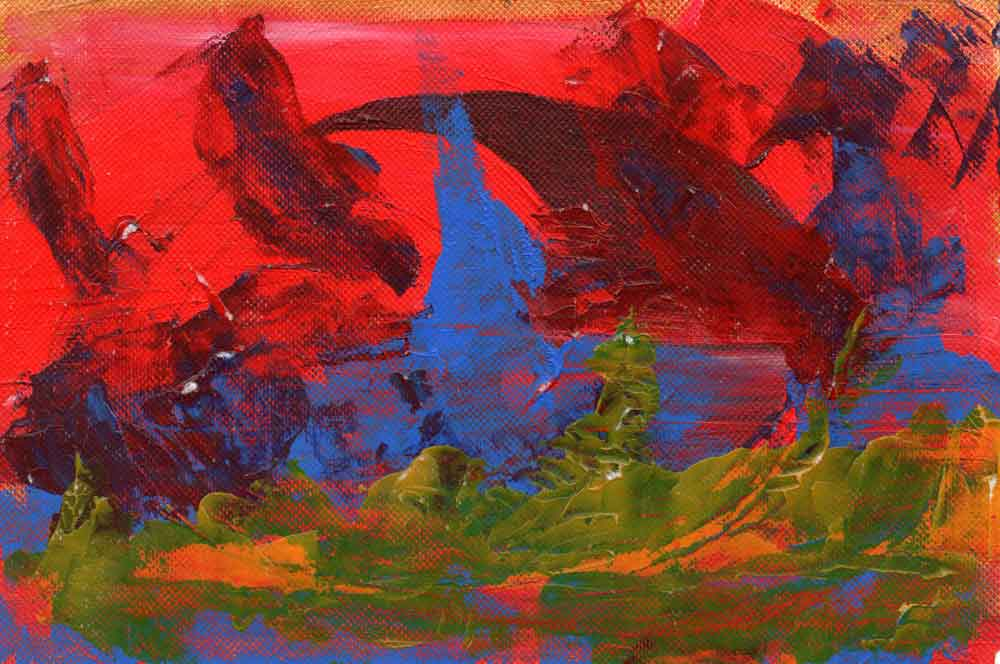 Red, blue and green abstract (#1510)