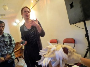 10 Jan - Maija Hirvanen speaks, French Institute, Yangon, Myanmar