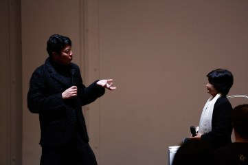 16 Jan - Director Ong Keng Sen introduces Writer Ju to the audience, FCP 2013 Opening Night, 72-13, Singapore