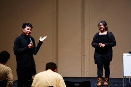 19 Jan, Director Ong Keng Sen opens sharing by Visual Artist Nge Lay, FCP SUPERINTENSE Day 4, 72-13, Singapore