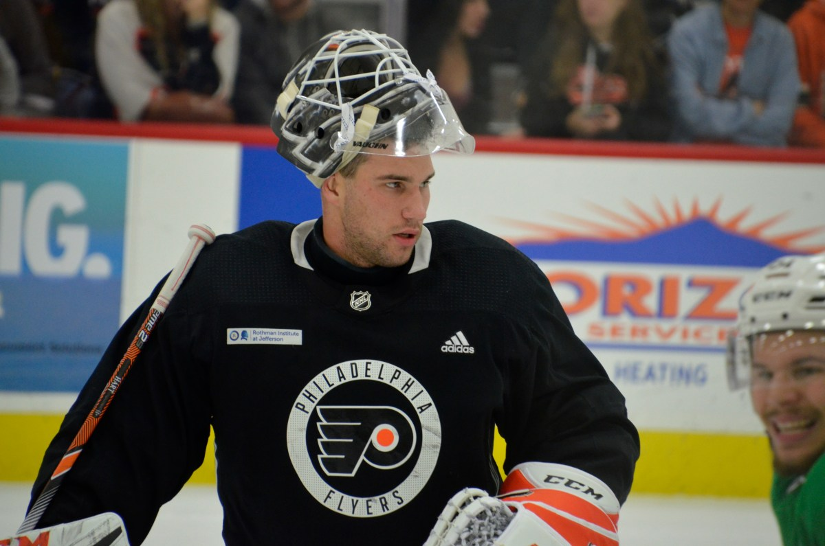 Flyers acquire goalie Cam Talbot from Oilers for Stolarz