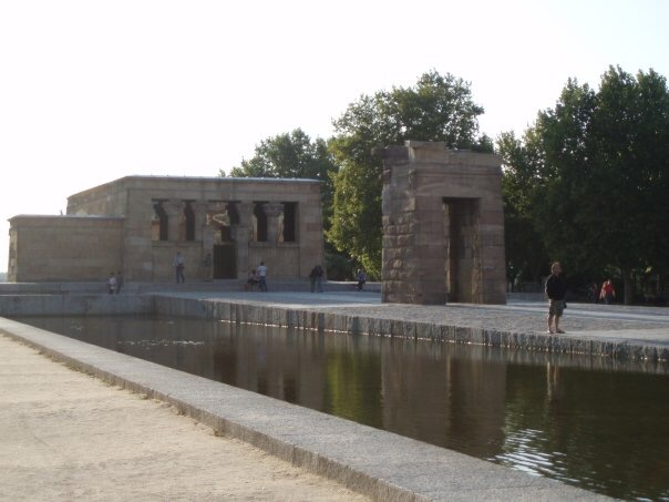 Temple of Debod in Parque del Oeste, Madrid, Spain