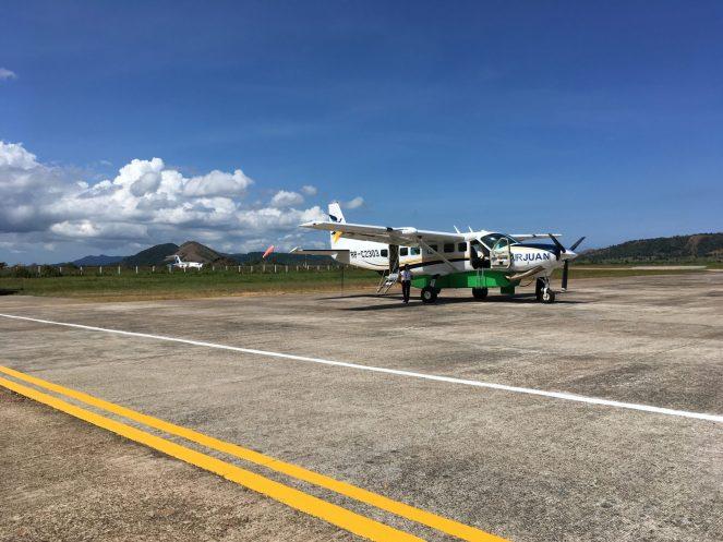 Air Juan Cessna plane on the tarmac