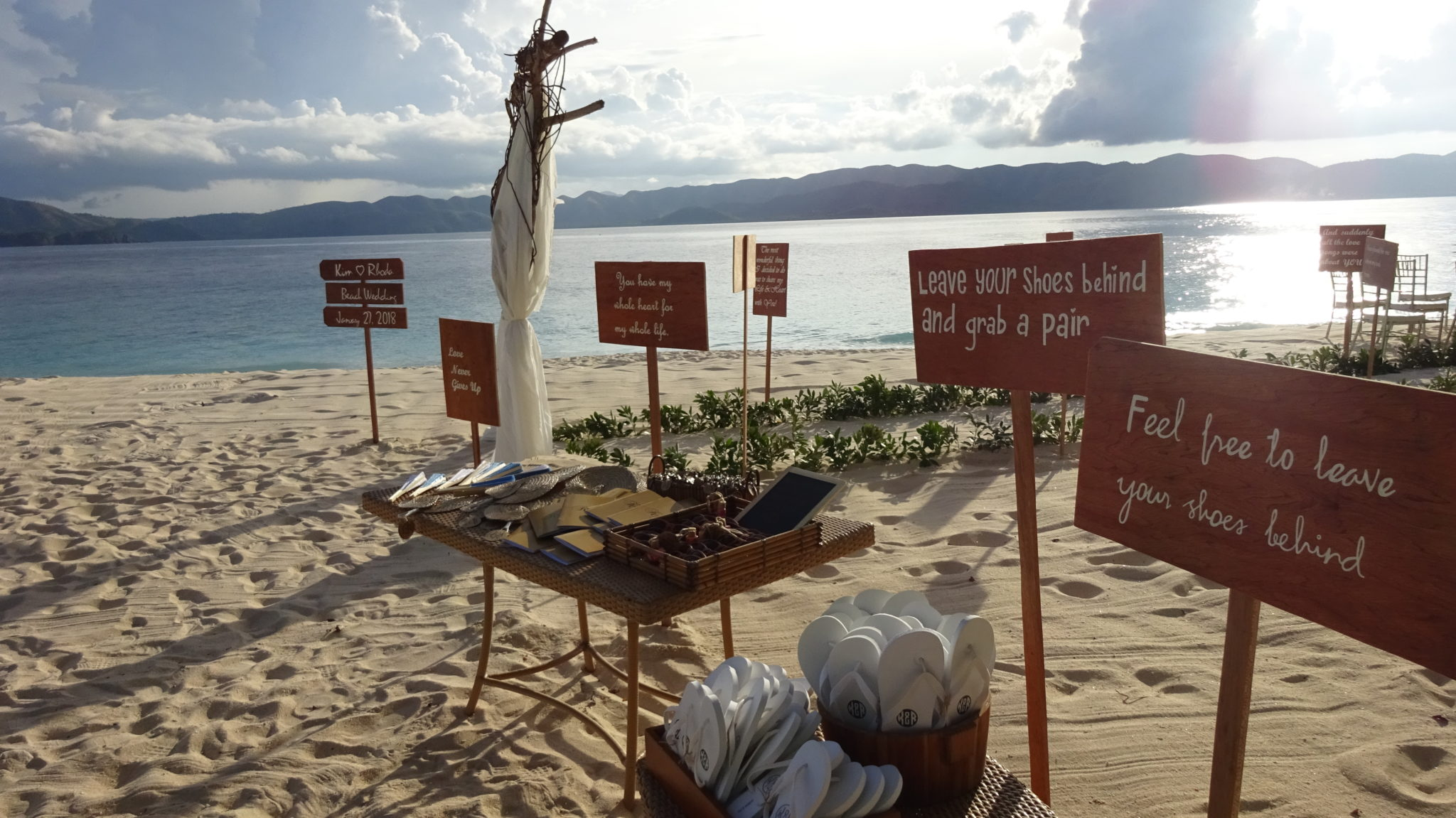 Club Paradise Palawan - Favours table