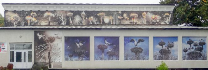 Wall murals in Chernobyl