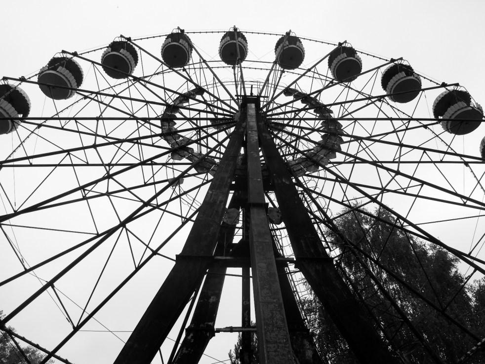 Eerie Ferris wheel in Pripyat