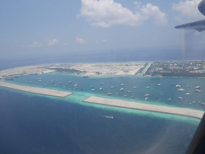Hulhumalé island, Maldives from the sky
