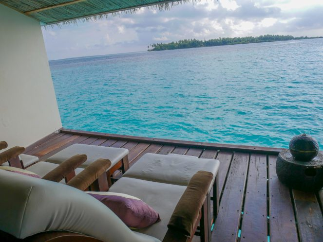 the view out over the sea from the K Spa at Kihaa Maldives