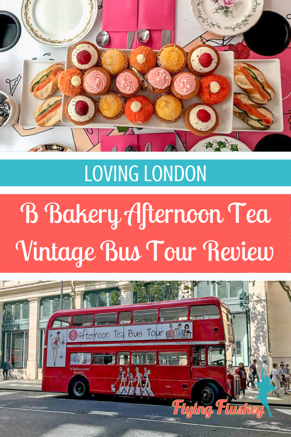 A full review of the B Bakery bus afternoon tea, London's most fabulous afternoon tea experience. All aboard the vintage Routemaster afternoon tea bus tour. #afternoon tea #afternoonteabus #bustour #thingstodoinlondon
