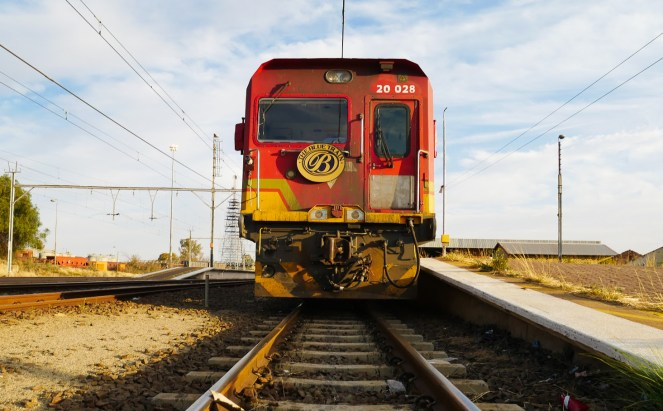 The engine at the front on The Blue Train