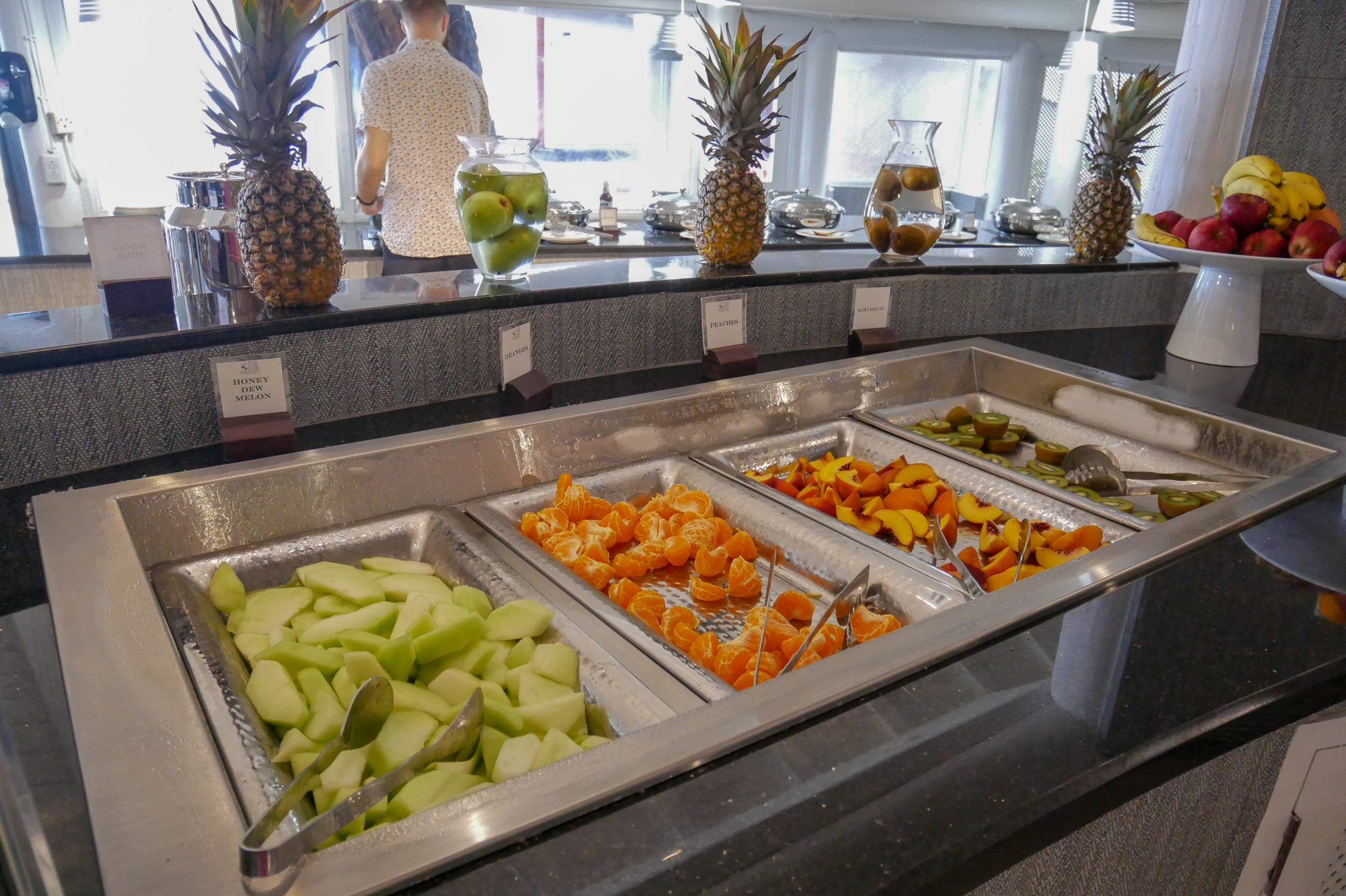 Trays of fruit in the chiller