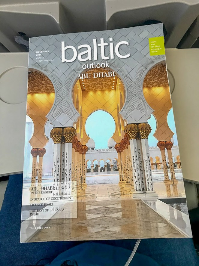 airBaltic Baltic Outlook in flight magazine