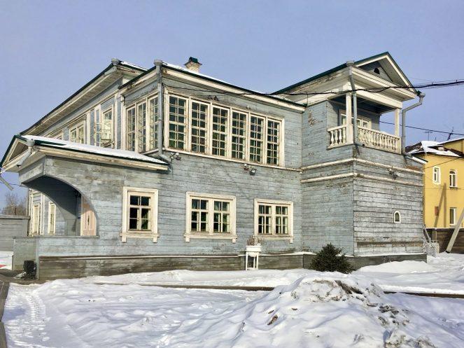 A wooden house in Irkutsk Russia