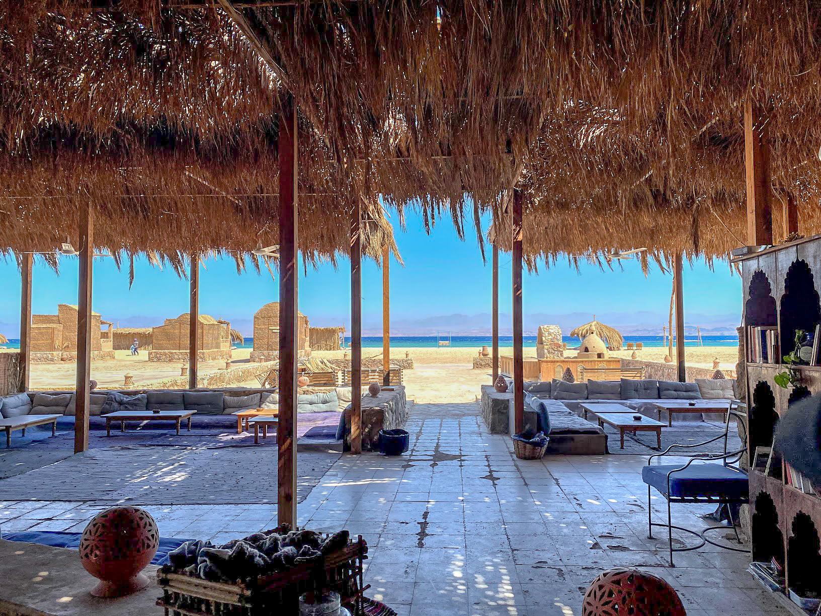 The terrace at Aqua Sun, Gulf of Aqaba, Egypt