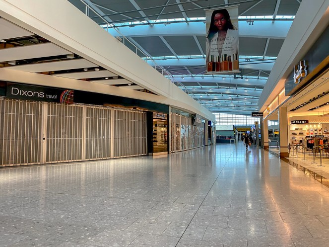 Dixons Travel and Harrods in London Heathrow Terminal 5