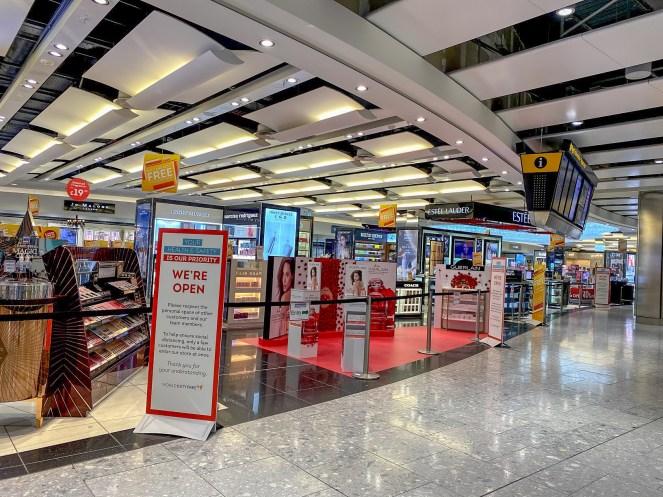 duty free shops at London Heathrow Terminal 5