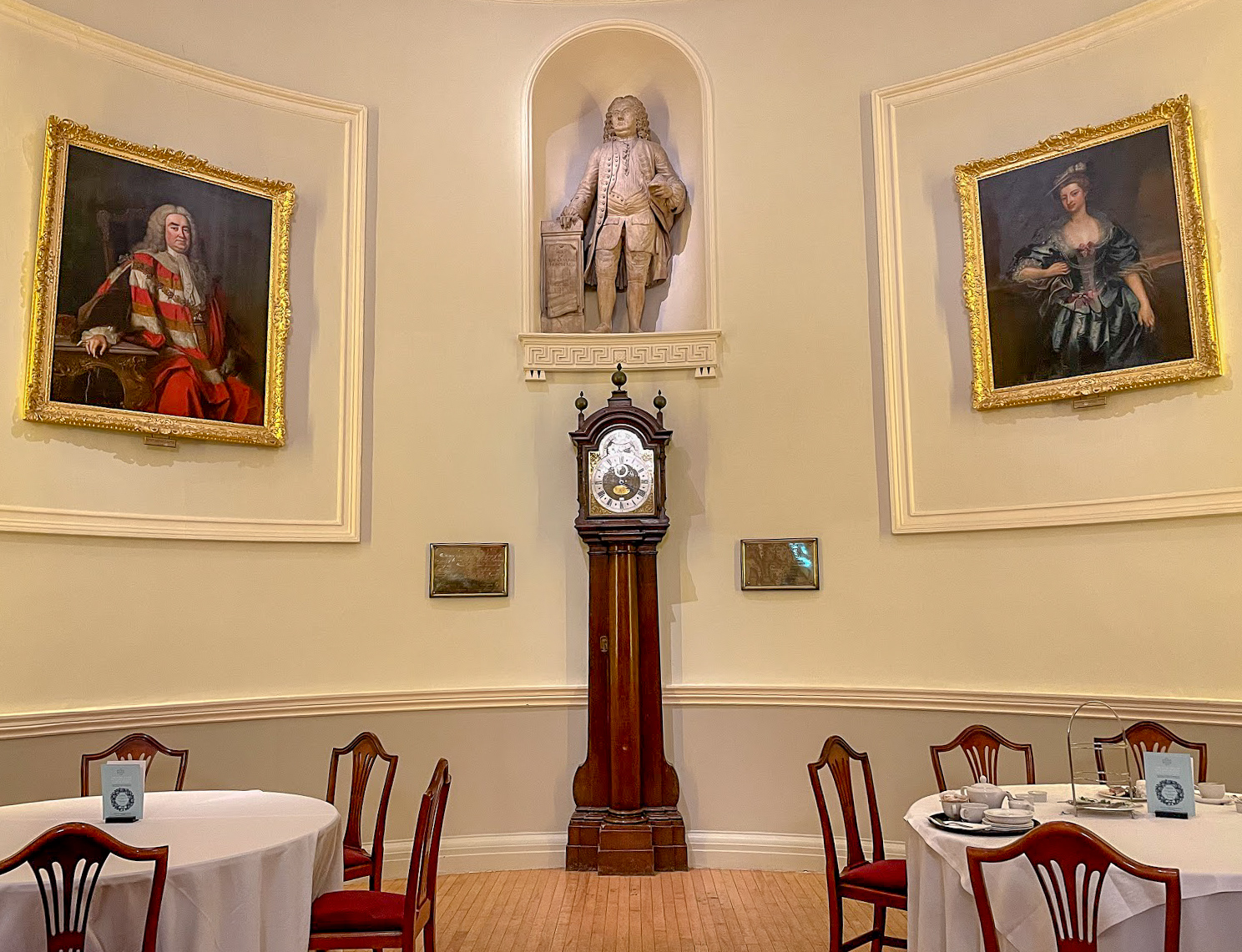 The Tompion clock in The Pump Room Bath