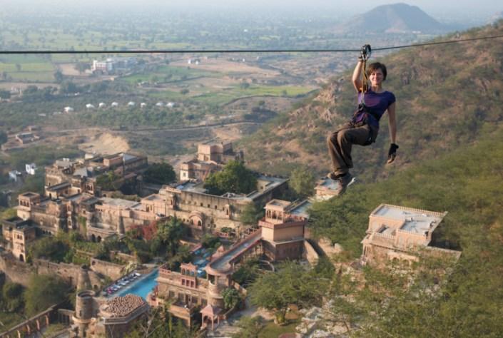 Flying Fox Neemrana, flying fox, ziplining, zipline tour, ziplines, adventure activities in india, adventure sports, outdoor sports