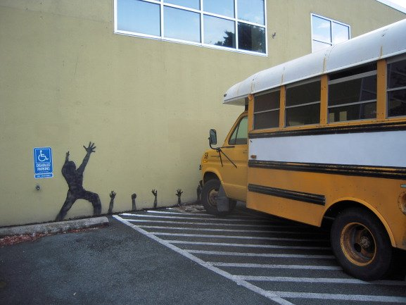 Editorial - Reaching Mural and School Bus