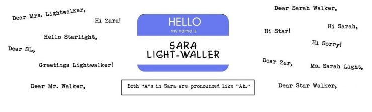 Hello My Name Is Sara banner crop