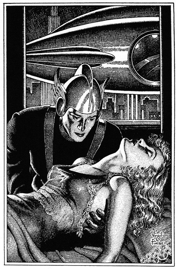 virgil finlay, artwork, pen and ink, scratchboard, pulp artist