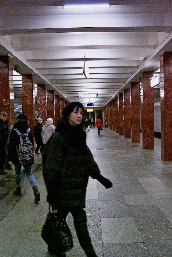 Kasirskaya metro station Moscow Russia