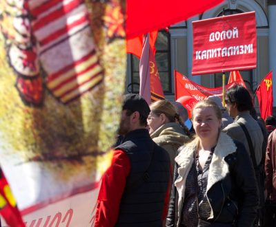 Communist demonstration is St. Petersburg